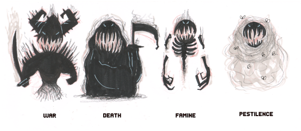 MrCroissant's Four Horsemen Sketch